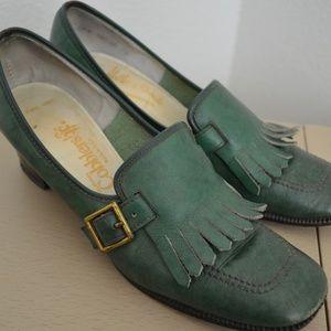 Authentic Vintage Fringe Loafer Style Heels